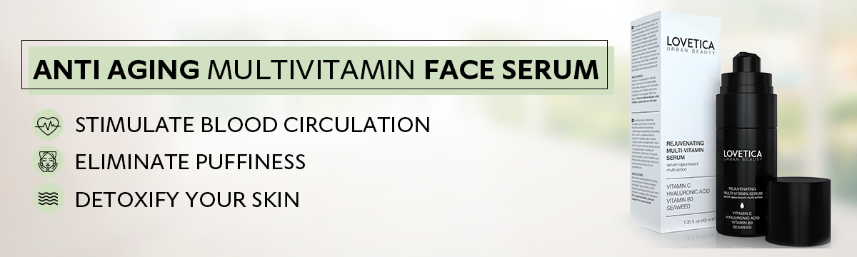 Anti Aging Face Serum with Vitamin C & Hyaluronic Acid